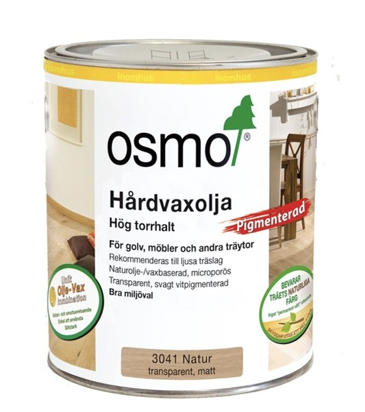Osmo Hårdvaxolja Pigmenterad 3041 Natur 0,75 liter