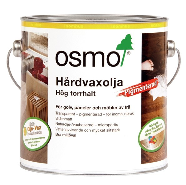 Osmo Hårdvaxolja Pigmenterad 3040 Vit 2,5 liter